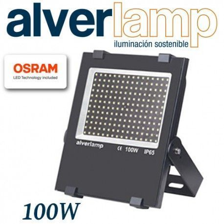 PROYECTOR LED COMPACTO REGULABLE 100W. 4000K ALVERLAMP LSPRO10041