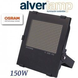 PROYECTOR LED COMPACTO REGULABLE 150W. 4000K ALVERLAMP LSPRO150W40