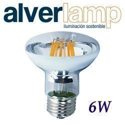 BOMBILLA LED R-63 FILAMENTO REGULABLE 6W E27 ALVERLAMP LR63FI06W