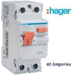 DIFERENCIAL 2X40A. 30MA. HAGER