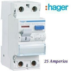 """DIFERENCIAL """"AC"""" 2X25A. 30MA HAGER"""