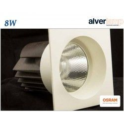 DOWNLIGHT LED EMPOTRAR 8W CUADRADO FIJO ALVERLAMP LD25CF