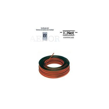 ROLLO 100 MTRS. CABLE PARALELO 2X1,5MM2 NEGRO/ROJO (BICOLOR)