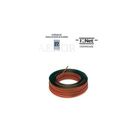 ROLLO 100 MTRS. CABLE PARALELO 2X2,5MM2 NEGRO/ROJO (BICOLOR)