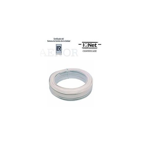 ROLLO 100 MTRS. CABLE PARALELO 2X1,5MM2BLANCO