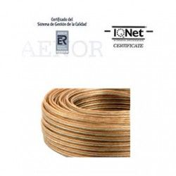 ROLLO 100 MTRS. CABLE PARALELO 2X1 MM2. TRANSPARENTE