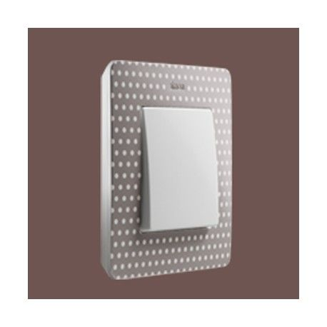 MARCO 1 ELEMENTO COLOR TOPOS GRIS BASE BLANCO SIMON 82 DETAIL 8200610-211