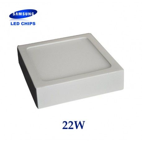 DOWNLIGHT DE SUPERFICIE CUADRADO 22W CHIP LED SAMSUNG LGVT4800