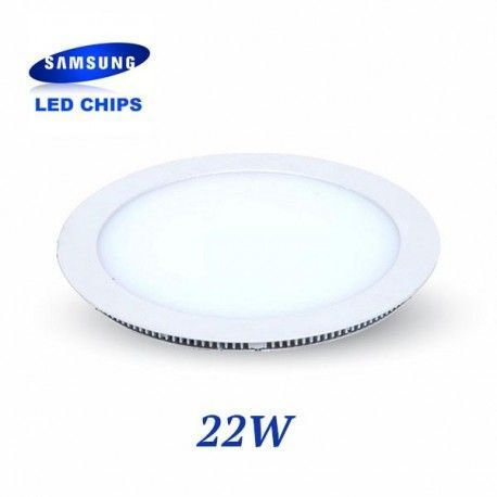 DOWNLIGHT EXTRAPLANO REDONDO 22W CHIP LED SAMSUNG LGVT4833