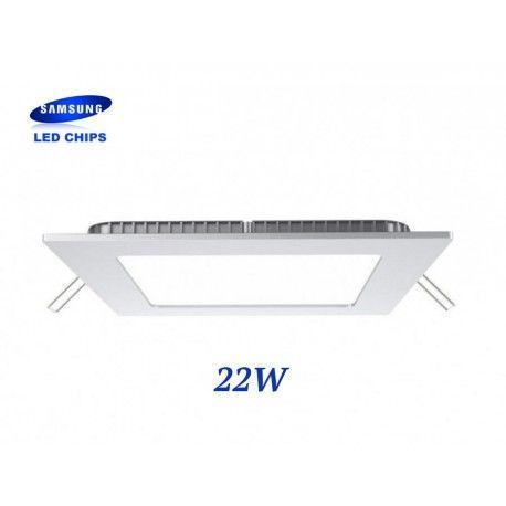 DOWNLIGHT EXTRAPLANO CUADRADO 22W CHIP LED SAMSUNG LGVT4830
