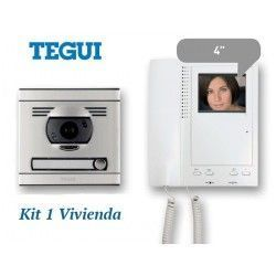 KIT DE VIDEO PORTERO CONVENCIONAL 1 VIVIENDA MONITOR COLOR SERIE 7 TEGUI 375046