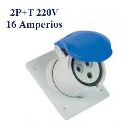 BASE DE SUPERFICIE CETAC 2P+T 16A IP44 220V