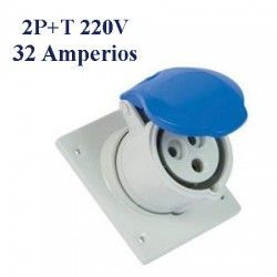 BASE DE SUPERFICIE CETAC 2P+T 32A IP44 220V