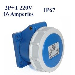 BASE DE SUPERFICIE CETAC 2P+T 16A IP67 220V
