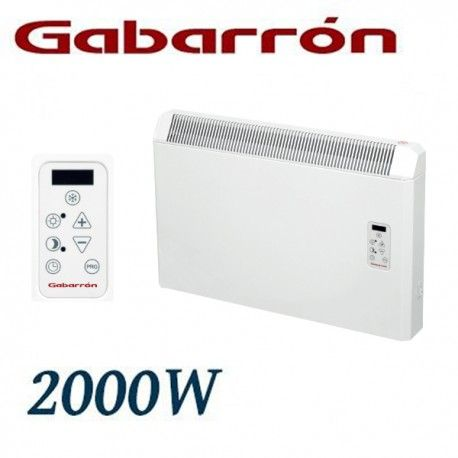 CONVECTOR ELECTRICO MURAL IP24 2000W. (1000+1000W) GABARRON PH200