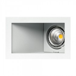 OJO DE BUEY LED CUADRADO ABATIBLE SIMPLE 7W VARIOS COLORES BJF