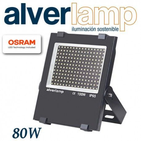 PROYECTOR LED 80W COMPACTO REGULABLE 4000K ALVERLAMP LSPRO8041