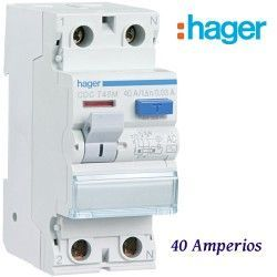 """DIFERENCIAL """"AC"""" 2X40A. 30MA HAGER"""