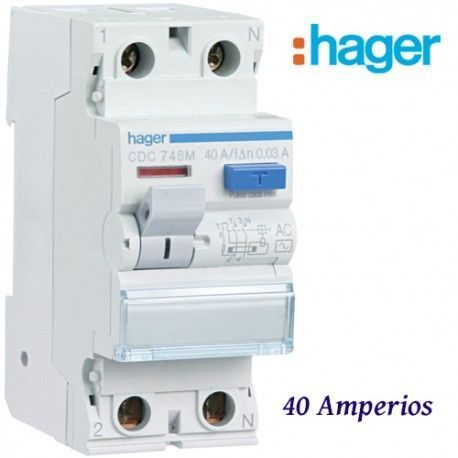"DIFERENCIAL ""AC"" 2X40A. 30MA HAGER"