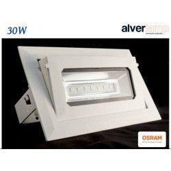 DOWNLIGHT LED 30W EMPOTRAR RECTANGULAR BASCULANTE ALVERLAMP LDR30RB