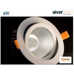 DOWNLIGHT LED EMPOTRAR 8W REDONDO BASCULANTE ALVERLAMP LD08RB