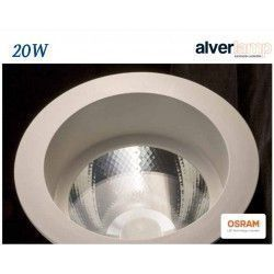 DOWNLIGHT LED 20W EMPOTRAR REDONDO FIJO ALVERLAMP LD25RF