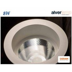 DOWNLIGHT LED 8W EMPOTRAR REDONDO FIJO ALVERLAMP LD08RF