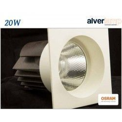 DOWNLIGHT LED 20W EMPOTRAR CUADRADO FIJO ALVERLAMP LD25CF
