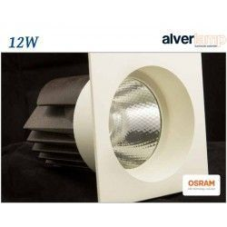 DOWNLIGHT LED 12W EMPOTRAR CUADRADO FIJO ALVERLAMP LD15CF