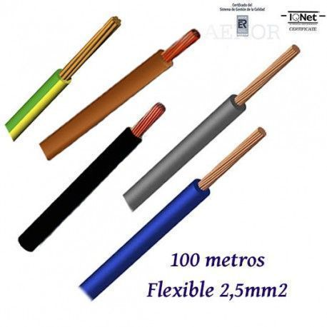 CABLE UNIPOLAR H07V-K FLEXIBLE 2,5MM2