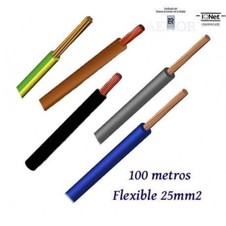 CABLE UNIPOLAR H07V-K FLEXIBLE 25MM2