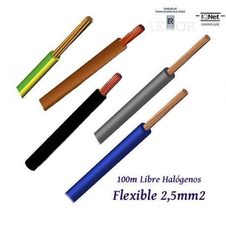 CABLE 2,5MM2 FLEXIBLE 07Z1-K LIBRE HALOGENOS 750V