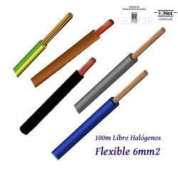 CABLE 6MM2 FLEXIBLE 07Z1-K LIBRE HALOGENOS 750V