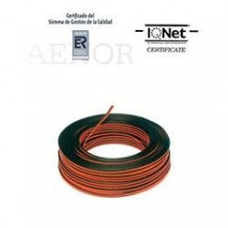 ROLLO 100 MTRS. CABLE PARALELO 2X1 MM2 NEGRO/ROJO (BICOLOR)