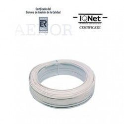 ROLLO 100 MTRS. CABLE PARALELO 2X0,75 MM2. BLANCO