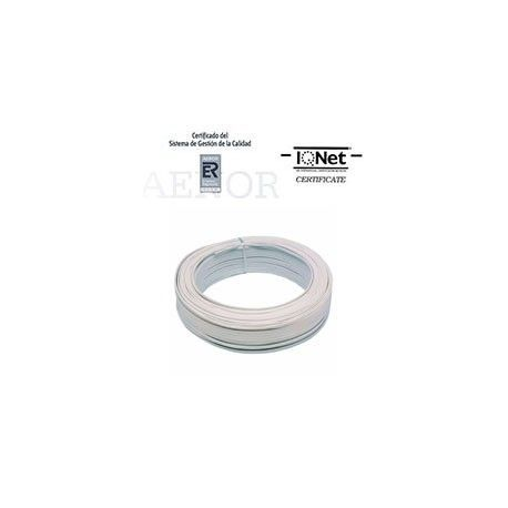 ROLLO 100 MTRS. CABLE PARALELO 2X1MM2 BLANCO