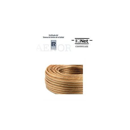 ROLLO 100 MTRS. CABLE PARALELO 2X0,75MM2. TRANSPARENTE