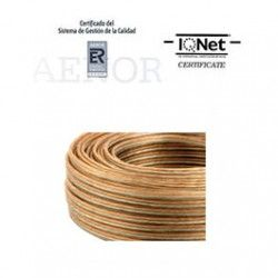 ROLLO 100 MTRS. CABLE PARALELO 2X1,5MM2 TRANSPARENTE