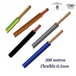 CABLE 0.5MM2 FLEXIBLE 07Z1-K LIBRE HALOGENOS 750V
