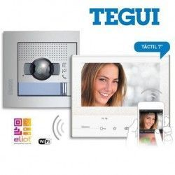KIT VÍDEO PORTERO DE 2 HILOS COLOR MANOS LIBRES WI-FI + SFERA NEW TEGUI 376171