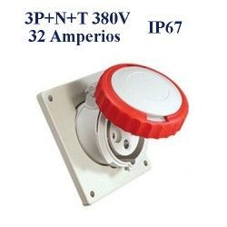 BASE DE SUPERFICIE CETAC 3P+N+T 32A IP44 380V