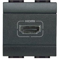 BASE CONECTOR HDMI ANTRACITA BTCINO LIVINGLIGHT L4284