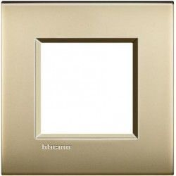 MARCO 1 ELEMENTO ORO MATE BTICINO LIVINGLIGHT AIR LNE4802OF