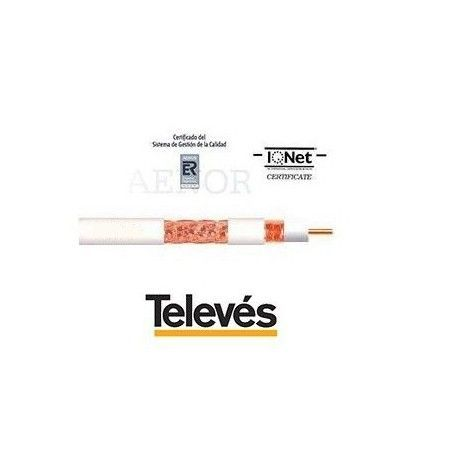CABLE COAXIAL T-100 PVC TELEVES