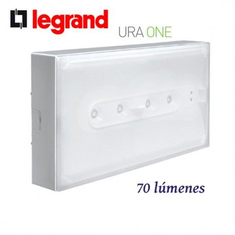 LUZ DE EMERGENCIA LED NO PERMANENTE 70 LUMENES URA ONE LEGRAND 661620
