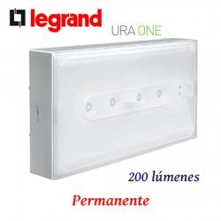 LUZ DE EMERGENCIA LED PERMANENTE 200 LUMENES URA ONE LEGRAND 661633