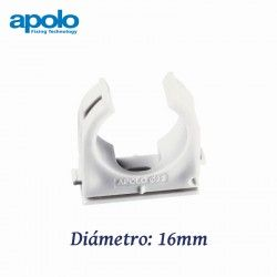 ABRAZADERA ABIERTA DE NYLON DIAMETRO 16MM MULTICLIP APOLO 916MC