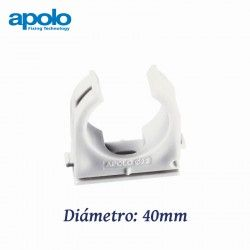 ABRAZADERA ABIERTA DE NYLON DIAMETRO 40MM MULTICLIP APOLO 940MC