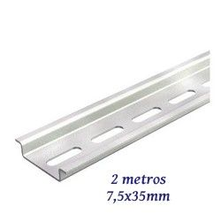 CARRIL DIN PERFORADO 7,5X35MM BARRA INDIVISIBLE 2 METROS