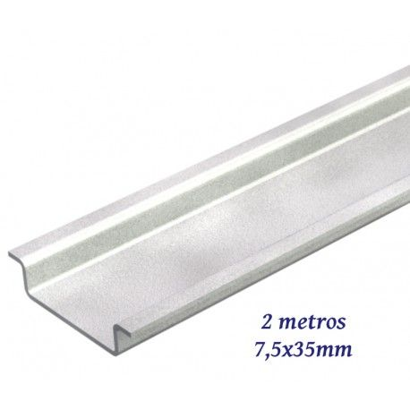 CARRIL DIN CIEGO 7,5X35MM BARRA INDIVISIBLE 2 METROS